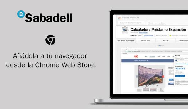 Banc Sabadell, Préstamo Expansión Chrome Extension
